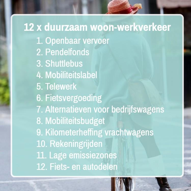 voorstellen duurzaam woon-werkverkeer